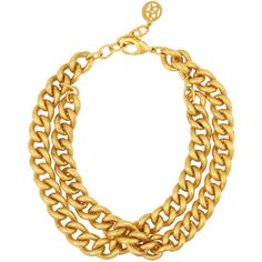 Ben-Amun Gold-plated chain-link necklace (445 BRL) ❤ liked on Polyvore featuring jewelry, necklaces, accessories, collares, gold, layered necklace, collar jewelry, gold plated jewellery, chain link jewelry and ben amun necklace