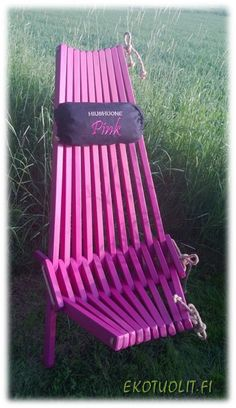 EcoChair PINK! Outdoor Chairs, Outdoor Furniture, Outdoor Decor, Aso, Pallets, Kentucky, Garden Ideas, Woodworking, Building