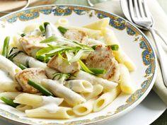 pasta + boontjes + mascarpone + kip Healthy Diners, Pasta Noodles, Pasta Salad, Spaghetti, Healthy Recipes, Healthy Food, Favorite Recipes, Chicken, Dragon