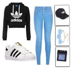 """♡♡"" by rcl-chabria on Polyvore featuring Topshop, New Look, adidas, Dettagli and NARS Cosmetics"