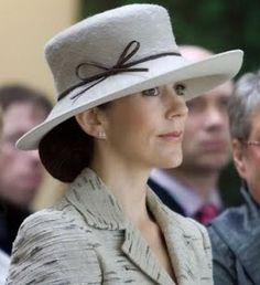 HRH Crown Princess Mary of Denmark dressed with lovely hat......