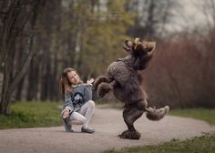 Photographer Андрей Селиверстов (Andy Seliverstoff) - Masha and her dancing poodle Michelle #1760766. 35PHOTO