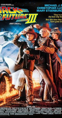 """Directed by Robert Zemeckis.  With Michael J. Fox, Christopher Lloyd, Mary Steenburgen, Thomas F. Wilson. Enjoying a peaceable existence in 1885, Doctor Emmet Brown is about to be killed by Buford """"Mad Dog"""" Tannen. Marty McFly travels back in time to save his friend."""