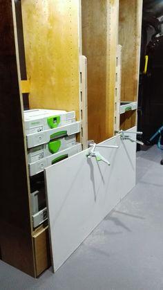 Van Storage, Tool Storage, Dewalt Tough System, Van Shelving, Enclosed Cargo Trailers, Van Racking, Mobile Workshop, Pallet Playhouse, Van Interior
