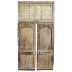 For Sale on - Large scale transomed Louis XV doors: Régence period exterior doors, hand carved in oak with original transom. Dated to the first half of the century. French Doors Bedroom, French Door Curtains, French Doors Patio, Exterior Sliding Glass Doors, Interior Barn Doors, Exterior Doors, Antique French Doors, How To Antique Wood, Door Handles Vintage