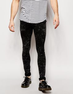 Dr Denim Jeans Kissy Low Spray On Extreme Super Skinny Black Ice Wash