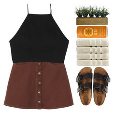 """IZZE"" by brigette002 ❤ liked on Polyvore featuring Monki, rag & bone, Birkenstock, Laura Ashley, Christy, women's clothing, women, female, woman and misses"