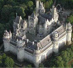 Le Château de Pierrefonds Oise France Pierrefonds 13th century mediaval castle in france