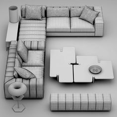 Sofa minotti freeman seating system Model available on Turbo Squid, the world's leading provider of digital models for visualization, films, television, and games.