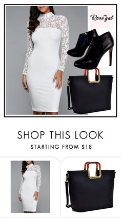 """""""Rose gal  60"""" by fatimazbanic ❤ liked on Polyvore featuring beauty, Dasein and Giuseppe Zanotti"""