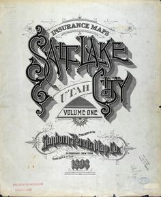 Salt Lake City, Sanborn Map Co.