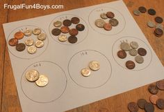 Hands-on practice with counting coins