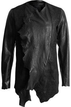 Minoar - Contrast calf leather jacket - orimono.eu