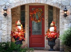 thanksgiving front porch decorations | Fall Porch Decorating Ideas