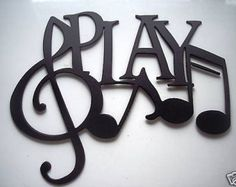 Play Word with Notes Metal Wall Art Music Decor by sayitallonthewall on Etsy Band Rooms, Diy Vintage, Metal Wall Art Decor, Music Wall Decor, My New Room, Metal Walls, Music Lovers, Art Music, Piano Music