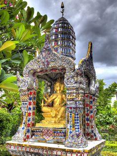 Ornate Buddhist Shrine, Wat Bangkungthien Kang, Bangkok, Thailand. Photographic print from Art.com.