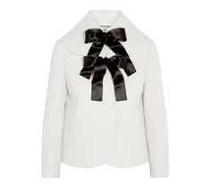 The 10 Chicest Bridal Coats for Winter Weddings – Vogue Alexander McQueen bow-embellished wool-crepe jacket, $2,895  net-a-porter.com