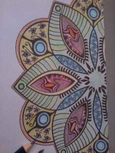 Mandalas Ideas: Mandal Painting # 1 by me