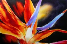 Petal Light - Bird of Paradise Painting in Watercolor by Arena Shawn http://www.redbubble.com