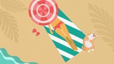 #vector #flat #summer #beach #dog #character design #spb #pinterest #picture #drawing #graphic #freelance #Chief_Mash #вектор #флэт #пляж #лето #собака #дизайн_персонажей #спб #фриланс #иллюстратор #иллюстрация #рисунок #графика #Шеф_Маш #картинка #пин #пинтерест