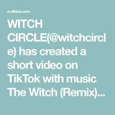 WITCH CIRCLE(@witchcircle) has created a short video on TikTok with music The Witch (Remix). Blessed Lugnasadh #Hexenzauber, #Lughnasadh, #witchcraft, #strega