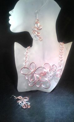 Hey, I found this really awesome Etsy listing at https://www.etsy.com/listing/196872864/copper-silver-colored-wire-necklace-set aluminium wire