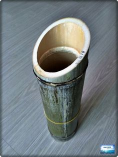 대통(대나무)으로 만든 다육이 화분, 대통대잎술 술통을 재활용했습니다. : 네이버 블로그