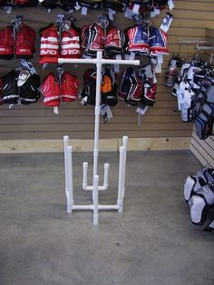 sports equipment storage hockey drying rack tree | eBay. sweet.thats what im talkin bout...