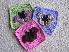 "Ravelry: Chubby Butterfly Square (6"" inches) by Amelia Beebe pattern by Amelia Beebe"