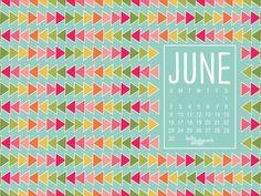 June Desktop Wallpaper via kellyashworth.com