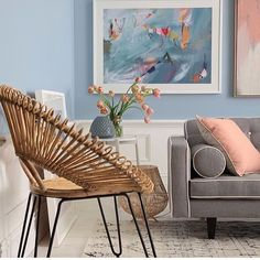 Our Bundar chair adds style to this pastel interior styled by @insideoutmag #ozdesign #ozdesignfurniture #homefurnishings #interiors #interiordesign #sundaystyleloves #homewares #homedecor #pastel #bestinteriors #trend #style #designer #home #L4L #instafollow #furniture #home #interiordesign