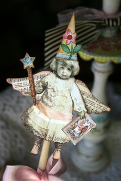 This art that makes me happy: Art group festivities Vintage Crafts, Vintage Paper, Vintage Christmas, Christmas Crafts, Christmas Ornaments, Paper Dolls, Art Dolls, Vintage Illustration, Paper Art