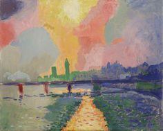 André Derain - Charing Cross Bridge, 1905-06, oil on canvas