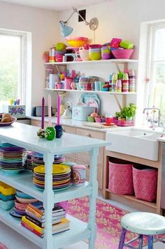 A kitchen for every color in the rainbow.