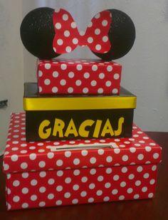 Buzón para sobres card box Minnie Mouse #minnie #mimi #minnieparty #ideasfiesta