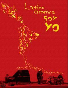 latinoamerica soy yo - Buscar con Google Power To The People, Latin America, Tatoos, Google, Posters, Block Prints, Party, Tiwanaku, Portraits
