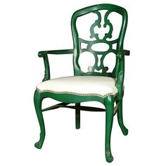 An original Dorothy Draper (1889-1969) design. This chair was designed for the Greenbrier Resort. The Greenbrier Hotel and Hollywood's Arrowhead Springs resort where two of her best-known projects