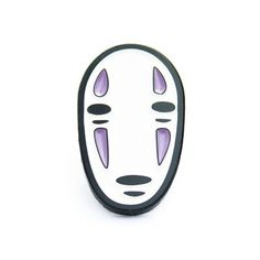 No face lapel pin