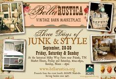 A vintage show for a good cause! In Nashville Tennessee Sept 28 29 30, 2012. Click here to read more and please share to spread the good news for those in need!  Mini Vacation!