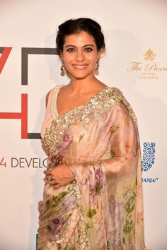 Kajol looked radiant at the fourth annual First Ladies Luncheon held by Fashion 4 Development. #Bollywood #Kajol