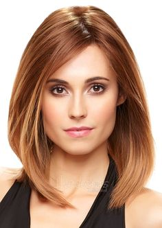 ombre bob hair | This sophisticated shoulder length bob, with an invisible lace front ...