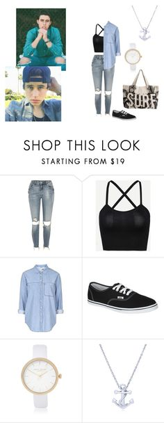 """Nash Grier inspired outfit"" by hola-hi ❤ liked on Polyvore featuring River Island, Topshop, Vans, BERRICLE, Rip Curl, stealthestyle and nashgrier"