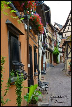 Eguisheim - In the heart of the Alsace wine region - France