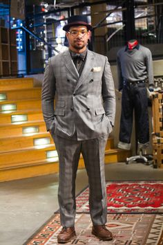 Dario of the Bellwether Project in his new Vincero Gray Glen Plaid Double Breasted #Suit: www.indochino.com...