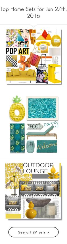 """Top Home Sets for Jun 27th, 2016"" by polyvore ❤ liked on Polyvore featuring interior, interiors, interior design, home, home decor, interior decorating, Progetti, Bensen, Varaluz and Dot & Bo"