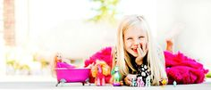 Love this picture!  With all her toys!  I want to do this with my girls!