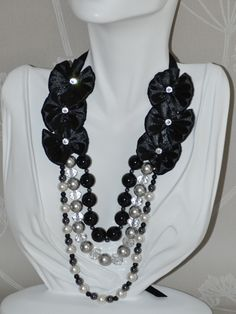 Classy Girl collection, Elegant  Statement necklace whith Swarovski Crystal stones ,One of a Kind