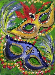 Dual Masks with Glitter a 2 cookie Academy acrylic painting lesson by Ginger Coo .Dual Masks with Glitter a 2 cookie Academy acrylic painting lesson by Ginger CookMake Vaiana costume yourself maskerix.deMake Vaiana costume yourself Mardi Gras Wreath, Mardi Gras Beads, Mardi Gras Party, Mardi Gras Centerpieces, Mardi Gras Decorations, Louisiana Art, New Orleans Art, Mask Painting, Clowns