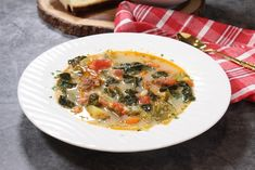 Zuppa Toscana Italian Soup, Italian Dishes, Italian Recipes, Casserole Recipes, Soup Recipes, Cooking Recipes, Healthy Recipes, Tuscan Soup, Confort Food