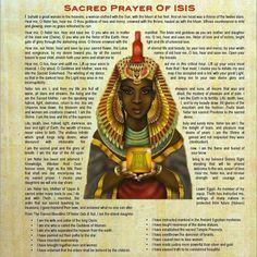 Resultado de imagem para prayers to isis egyptian goddess